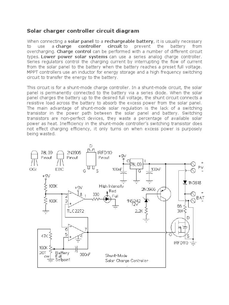 Solar Charger Controller Circuit Diagram | Electrical ...