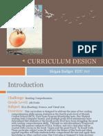 m  badger curriculum design