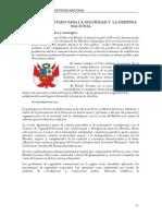POLÍTICA DE ESTADO PARA LA SEGURIDAD Y  LA DEFENSA NACIONAL tema 4