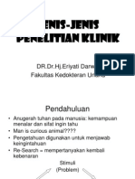 Jenis-jenis Penelitian Klinik