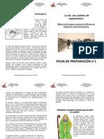 La fe, un camino de experiencia, Ficha Preparación Puquillay n°1