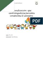 Planificación  ejes centralizadores periodos constantes II semestre