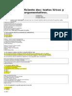 prueba c2 septimo basico  lirica y argumentación.