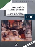 Historia De La Teoria Politica Sabine Pdf