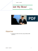 A2, Lesson 1-Meet My Boss