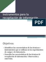 Instrumentos para la recopilación de información