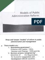 Models of Public Admin