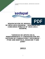 Bases de La Amc-00019-2012-Sedapal-Apoyo Mtto Ptar San Bartolo, Huascar y San Juan[1]