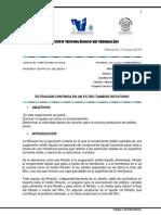 PRACTICA PROPUESTA -  Filtración Continúa en un Filtro Tambor Rotatorio.