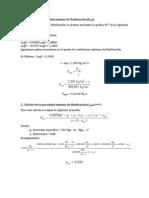 Cálculo de la velocidad mínima de fluidización