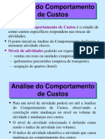 Analise Do Comportamento Dos Custos