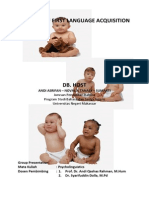 Pattern of First Language Acquisition