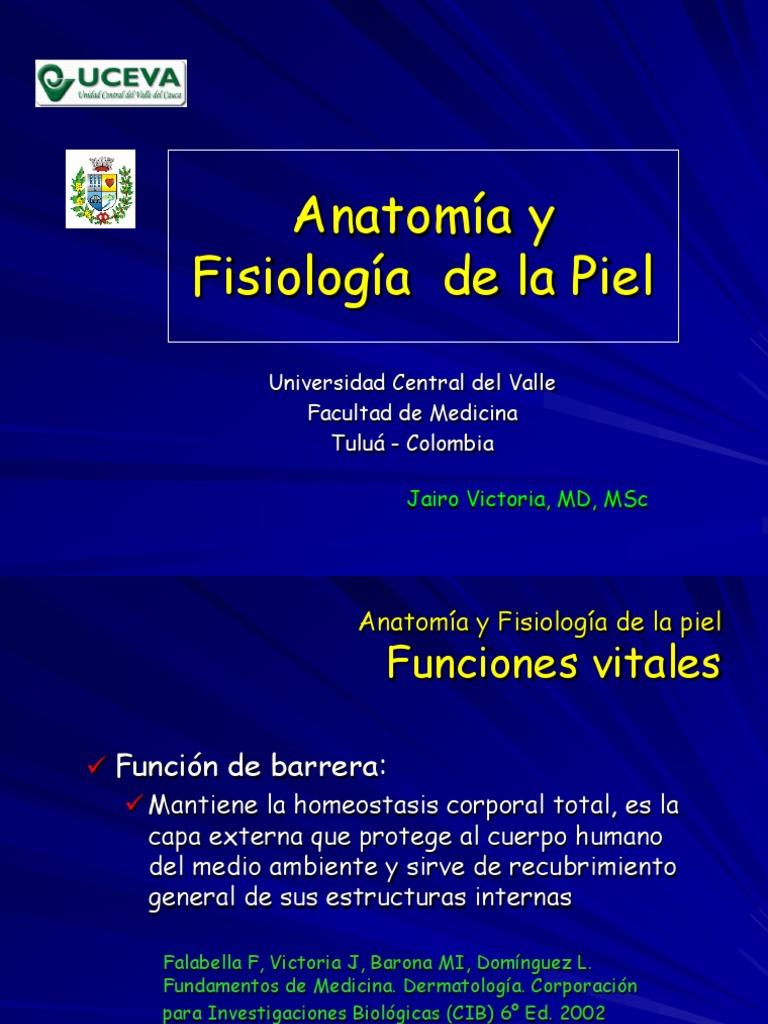 Clase 1 Anatomía y fisiología de la piel
