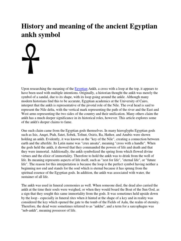 History and meaning of the ancient egyptian ankh symbolcx history and meaning of the ancient egyptian ankh symbolcx ancient egypt mythology biocorpaavc Gallery