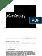 Installing Linux Slackware