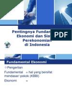 Pentingnya Fundamental Ekonomi Dan Sistem Perekonomian