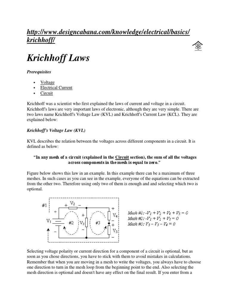 kcl and kvl docx series and parallel circuits network analysis rh scribd com