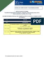 Resumen COMTEL 2013 Programación Conferencias Web Robotica