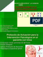 Protocolo de Actuación para la Intervención Psicológica en