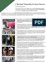 "Insider News - 1676 - Saudis Claim MOSSAD ""Hit Squad"" Responsible For Boston Massacre"