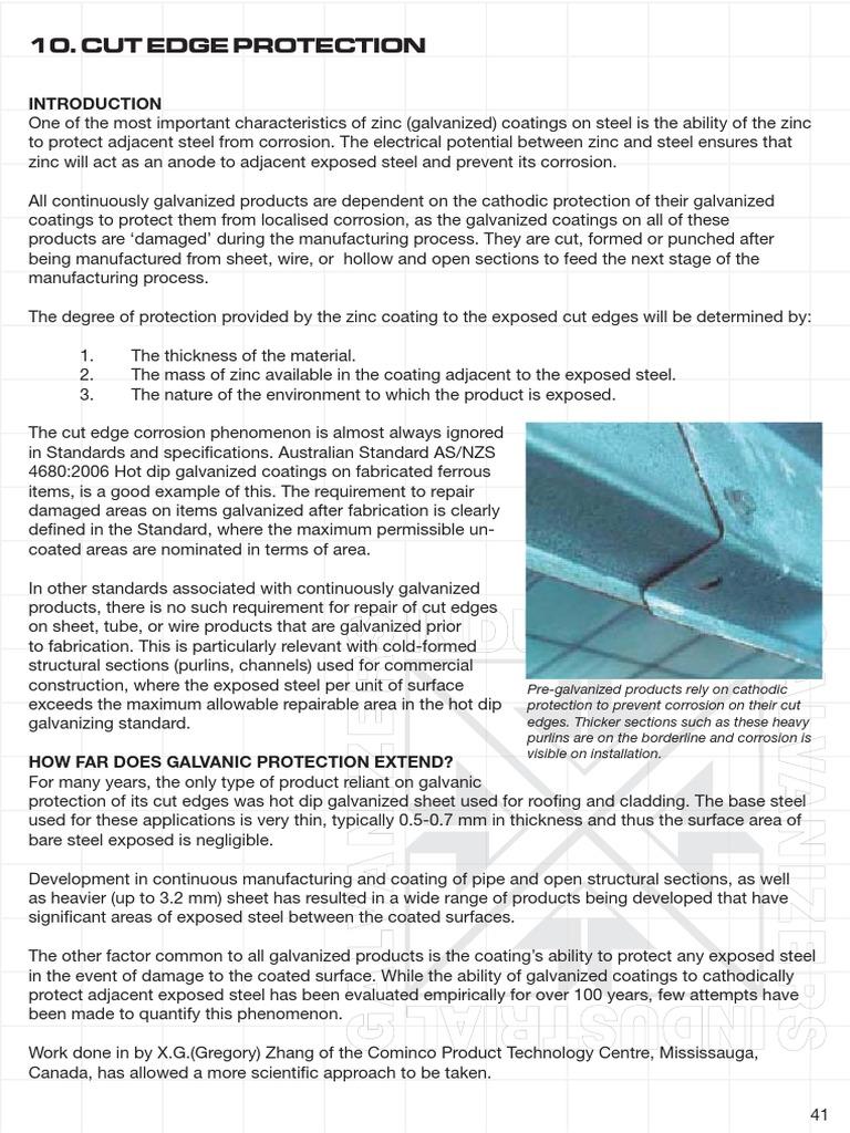 GALV - Cut Edge Protection | Galvanization | Corrosion