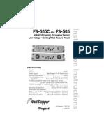 WattStopper FS505 Installation Instructions