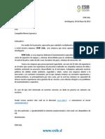 Carta Presentacion Esib Ltda. Rev B