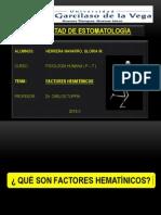 FACTORES HEMATÍNICOS (FISIOLOGÍA)