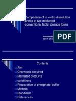 Comparison of in –vitro dissolution  profile