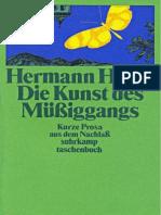 Hesse - Die Kunst Des Muessiggangs