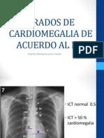 Grados de Cardiomegalia de Acuerdo Al Ict