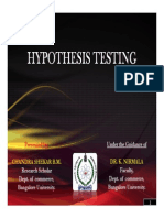 Hypothesis Testing Chandru