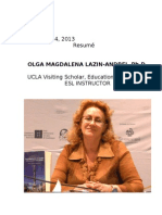 Cv Dr Olga Lazin, September 27, 2013.