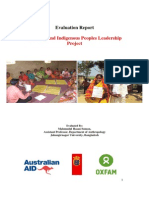 Evaluation Report of Diversity and Indigenous Peoples Leadership Project