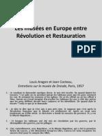 2. Les musées en Europe entre Révolution et Restauration