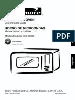66339Kenmore 66339 Black 1.2 cu ft 1200 Watt Counter Top Microwave