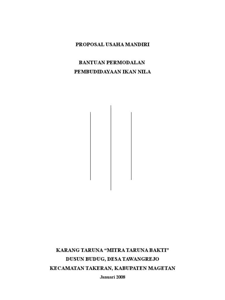 Proposal Pembudidayaan Ikan Nila