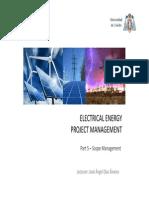 CEESP Electrical Energy Project Management 5 Scope Management