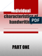 Individual Characteristics of Handwriting