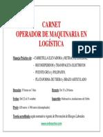 Cartel Publicidad Curso Operador Maquinaria en Almacenes Logísticos