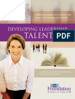 Developing Lead Talent-