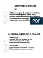 Glomerulonefrite Cronice