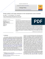 Energy Analysis and Exergy Utilization in the Transportation Sector of Jordan