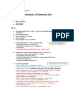 Pamela Productions Meeting Notes 19-09-13