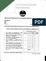Percubaan Kedah SPM 2012 Sejarah Kertas 2