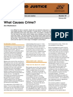Causes of Crimes