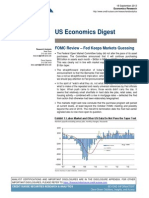 "Credit Suisse, US Economics Digest, Sep 18, 2013. "" FOMC Review – Fed Keeps Markets Guessing""."
