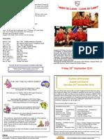 Newsletter Friday 20th September