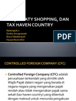 CFC, Treaty Shopping, Tax Heaven Country