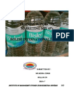 Bisleri Project Report